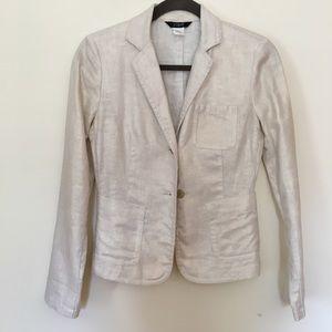 J Crew Metallic Linen blazer